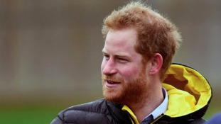 Prince Harry returns to village flooded by 2015 storm