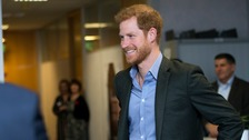Prince Harry meets staff and veterans at Veterans UK