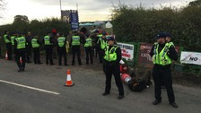 Anti-fracking protesters 'put lives on the line'