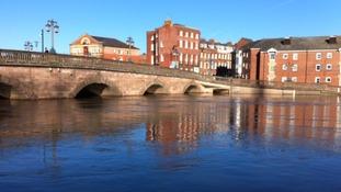River Severn bursting its banks before Christmas