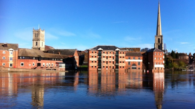 River Severn flooded before Christmas 