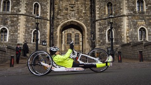 She has also completed a charity 'handcycle'.