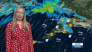 Weather: Rain at times followed by sunny spells