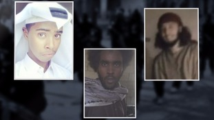Hussein (centre) is suspected of leading a group of British youngsters to Syria