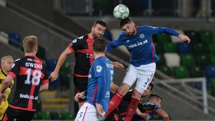 Crusaders beat Linfield at Windsor Park.
