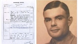 Codebreaker Alan Turing's school report is revealed