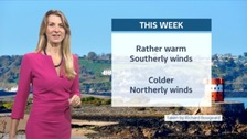 Sunny periods developing. Sophia has the latest