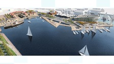 Artist's impression of the revamped waterfront site.