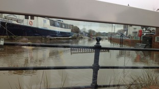 View through the flood defence