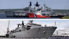 HMS Bulwark and HMS Albion.