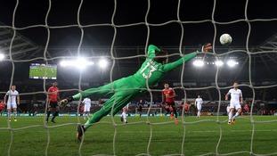 Jesse Lingard double downs sorry Swansea