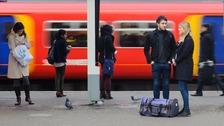 Rail passengers at Clapham Junction station
