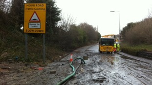 Clean-up at flood site in Nottingham