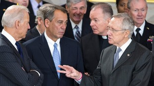 John Boehner and Harry Reid