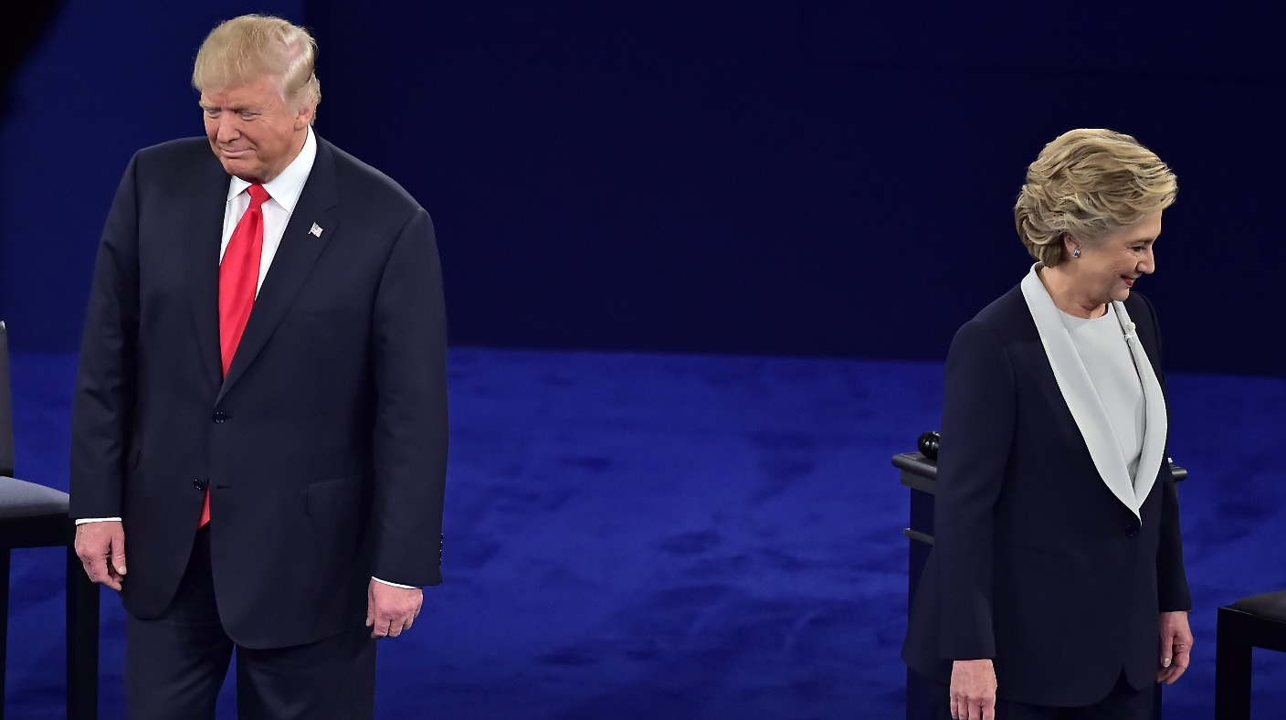 a comparison between the views of presidential candidates hilary clinton and donald trump on the key You could, if you were so inclined, distill monday's marquee clash between donald trump and hillary clinton at hofstra university to a single iconic incident: trump sniffling several times per sentence, perhaps, or clinton debuting a new dance move.