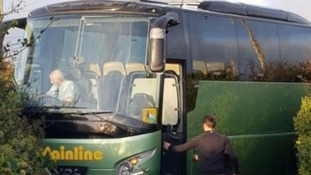 Coach freed after 12 hours of being stuck in narrow St Ives lane
