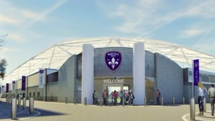 An artist's impression of the planned community stadium.