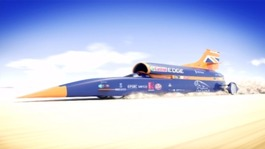 Bloodhound: supersonic car reaching a record-breaking speed