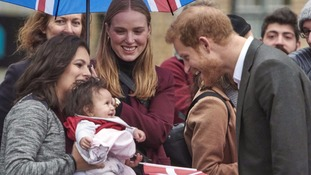 Prince Harry makes friends on Danish charm offensive
