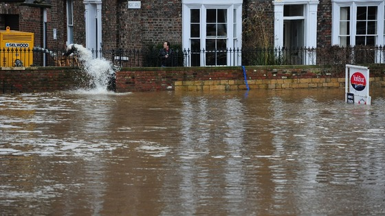 Flooding in York city centre.