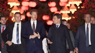 Prince Harry attended an evening reception at the city's famous Tivoli Gardens.