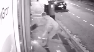CCTV catches bungling burglar who leaves empty handed