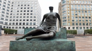 Henry Moore's 'Old Flo' sculpture back on display in London