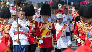 King Maha Vajiralongkorn led one of the funeral processions