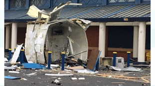 The remains of the ATM.