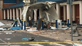 The remains of the ATM