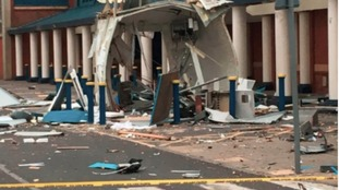 What's left of the ATM in Darlington