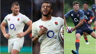 Dylan Hartley (left), Courtney Lawes (centre) and Piers Francis (right) have all been selected.