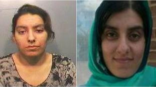 Sabah Khan (left) and her sister Saima Khan.