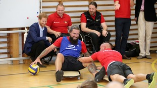 Prince Harry visited a Danish Veterans Centre.