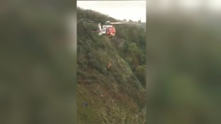 Torbay Coastguard rescues man from 150ft down a cliff