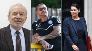 Lord Sugar (left), Glenn Tamplin (centre) and Priti Patel (right) made the top three.
