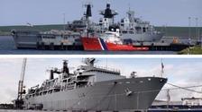 HMS Bulwark and HMS Albion