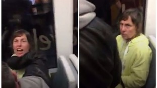 The video footage shows a woman's racist outburst