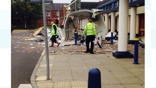 The scene in Darlington yesterday.