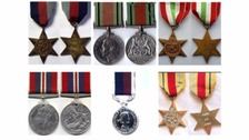 The medals look similar to these and include the Italy star, the RAF long service medal and the good conduct medal.