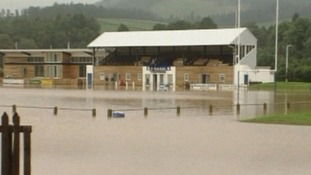 Selkirk Rugby Club has previously been hit by flooding