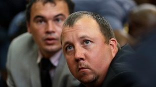 Theo Jackson (front) and Willem Oosthuizen have been jailed for a total of 35 years.