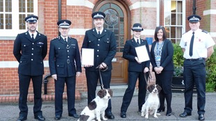 The handlers were given their licences on Monday, October 23
