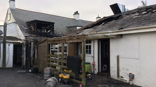 11 people evacuated from Cornish pub after fire