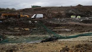 The search of the landfill site in Milton resumed on Monday.
