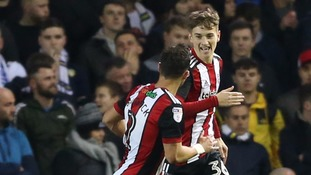 Default… Add to lightbox Leeds United v Sheffield United - Sky Bet Championship - Elland Road Sheffield United's David Brooks (right) celebrates scoring his side's second goal of the game during the Sky Bet Championship match at Elland Road, Leeds.
