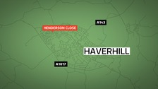 A 43-year-old woman has 'life-threatening' injuries after being hit by a milk delivery van in Henderson Close, Haverhill in Suffolk.