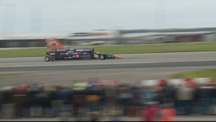 Bloodhound makes first public run in front of thousands