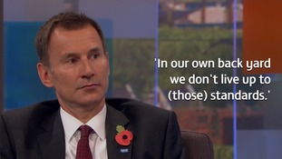 Jeremy Hunt said MPs need to practice what they preach.