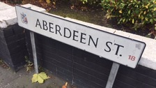 A street sign saying, 'Aberdeen Street'